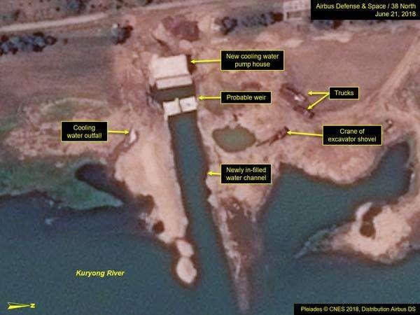 Imagens de satélite exibem supostos avanços no desenvolvimento nuclear da Coreia do Norte (Foto: Airbus Defence and Space)