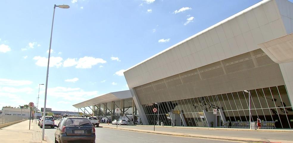 Aeroporto Marechal Rondon, em Várzea Grande (Foto: Reprodução/TVCA)
