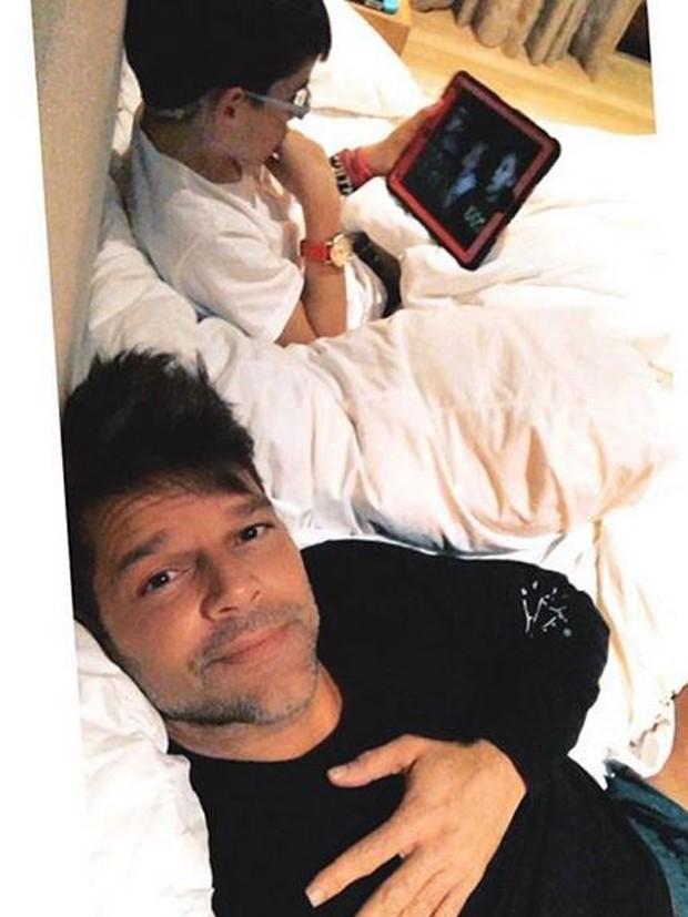 Ricky Martin publica foto com o filho  (Foto: Reprodução/Instagram)