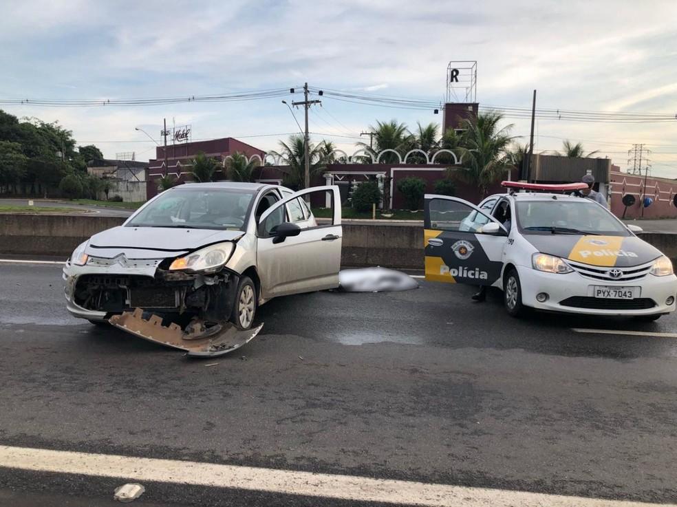 Mulher morre após acidente em rodovia de Limeira  — Foto: Cauê Pixitelli/noticiadelimeira.com.br