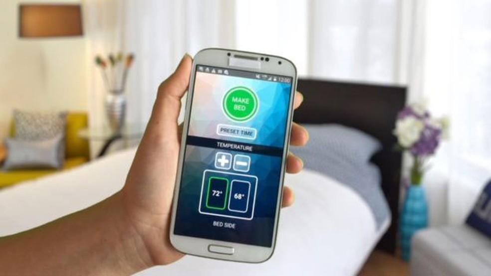 Temperatura é controlada pelo celular, por meio de um aplicativo (Foto: Smarduvet)