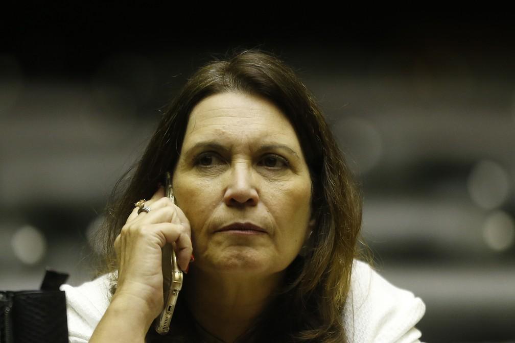 A deputada bolsonarista Bia Kicis, do PSL, cotada para assumir a CCJ da Câmara — Foto: Dida Sampaio/Estadão Conteúdo