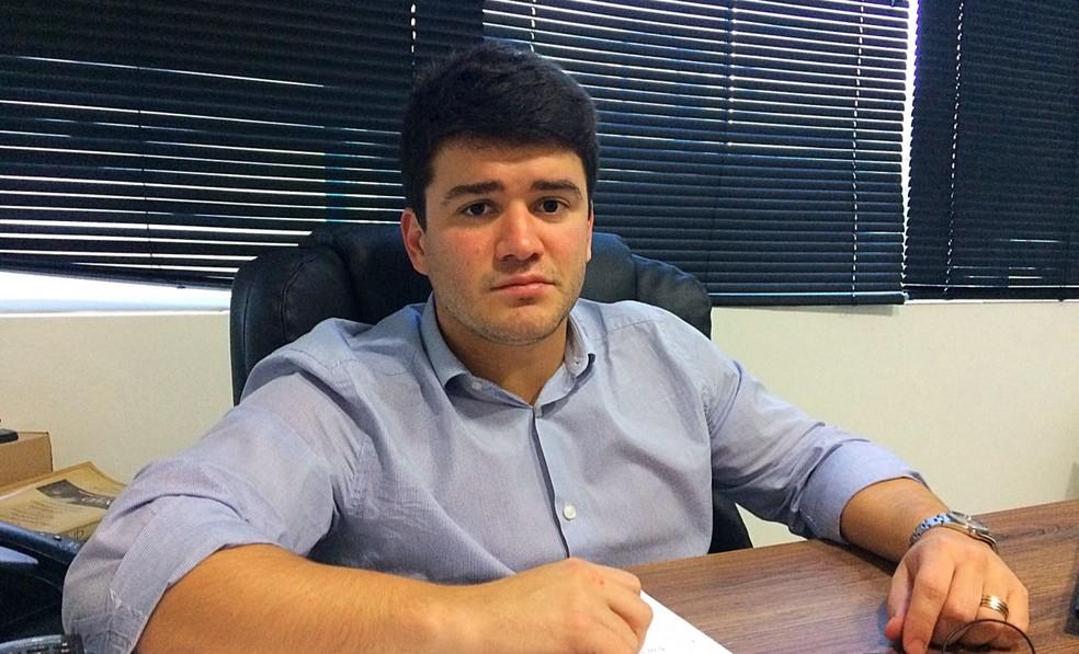Felipe Feijó, presidente da Federação Alagoana de Futebol — Foto: Viviane Leão / GloboEsporte.com