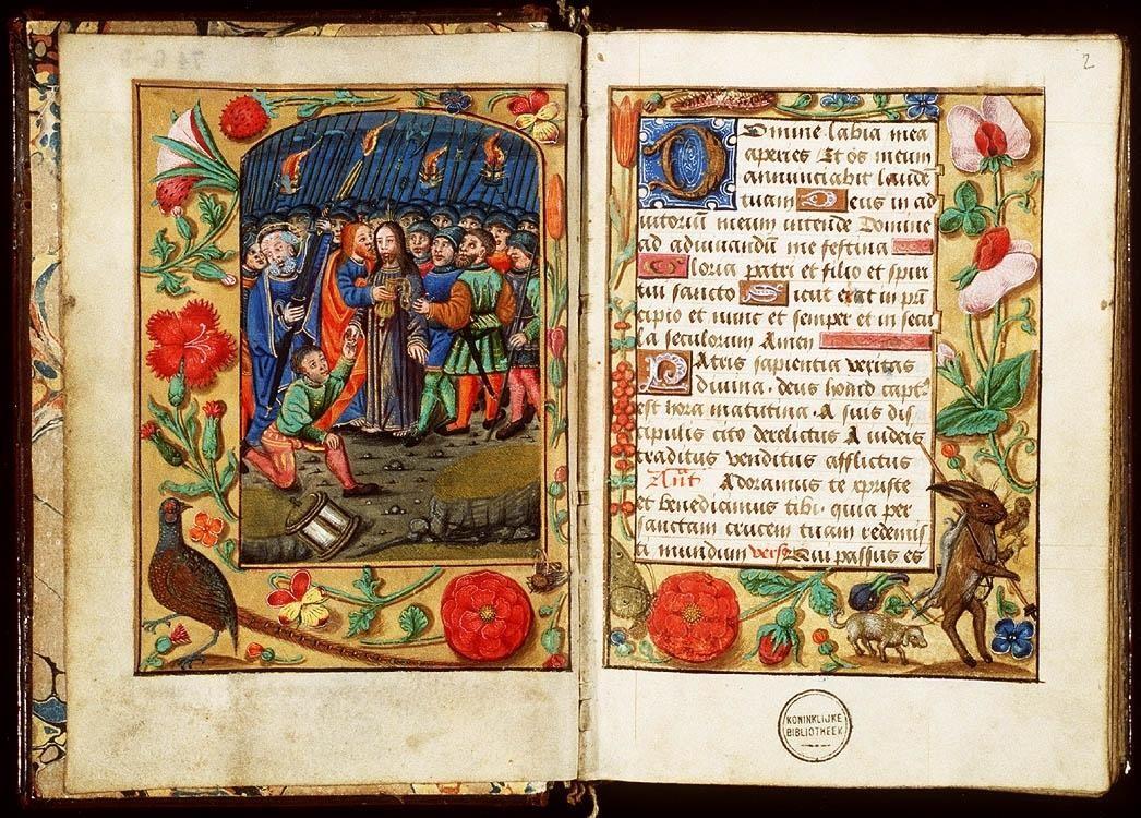 Iluminura medieval, que utilizava o latim (Foto: Reprodução)
