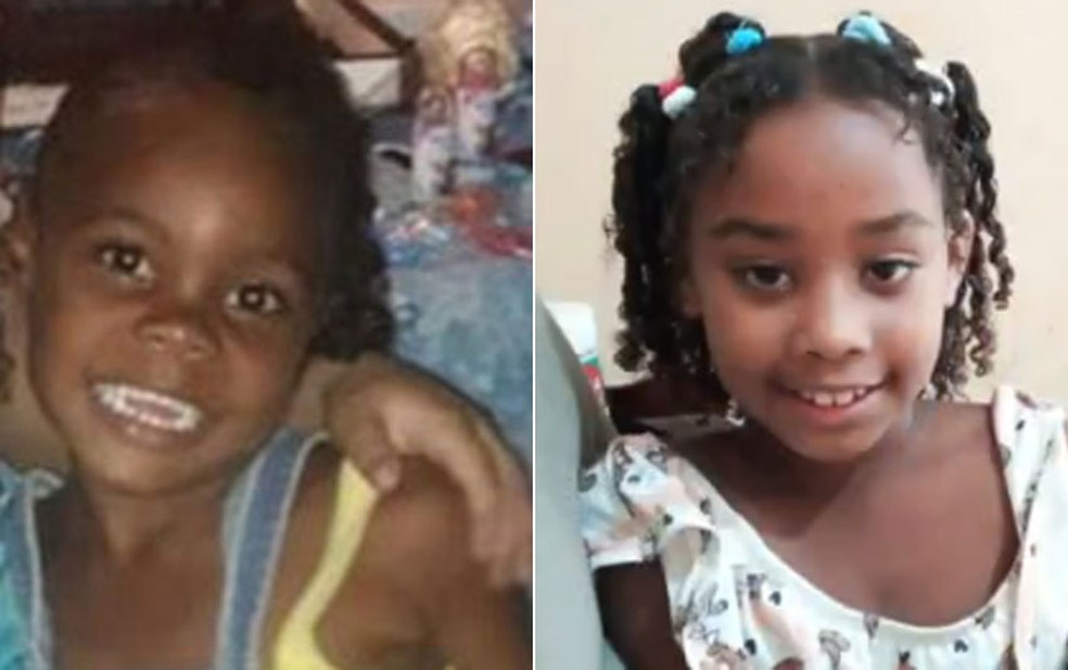 Emilly e Rebeca foram assassinadas enquanto brincavam na porta de casa, em Duque de Caxias — Foto: Reprodução/TV Globo