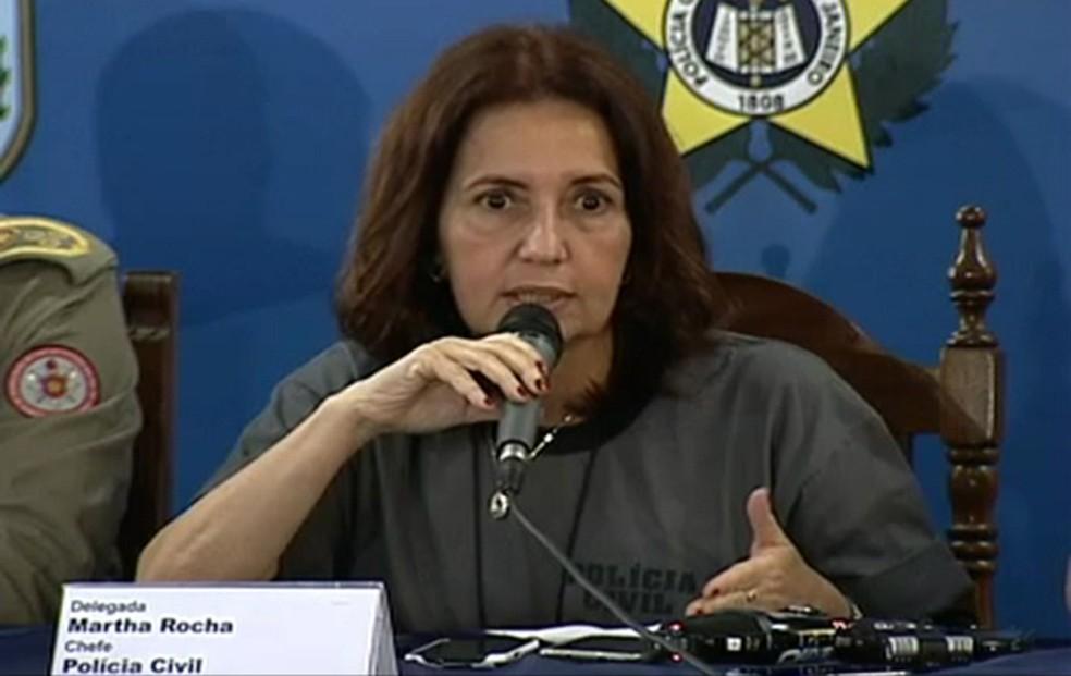 Deputada Martha Rocha (PDT): comissão vai convocar autoridades de segurança  (Foto: Reprodução/TV Globo)