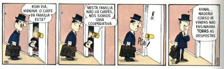 Mafalda y las relaciones familiares (Foto: Reproducción / Quino)