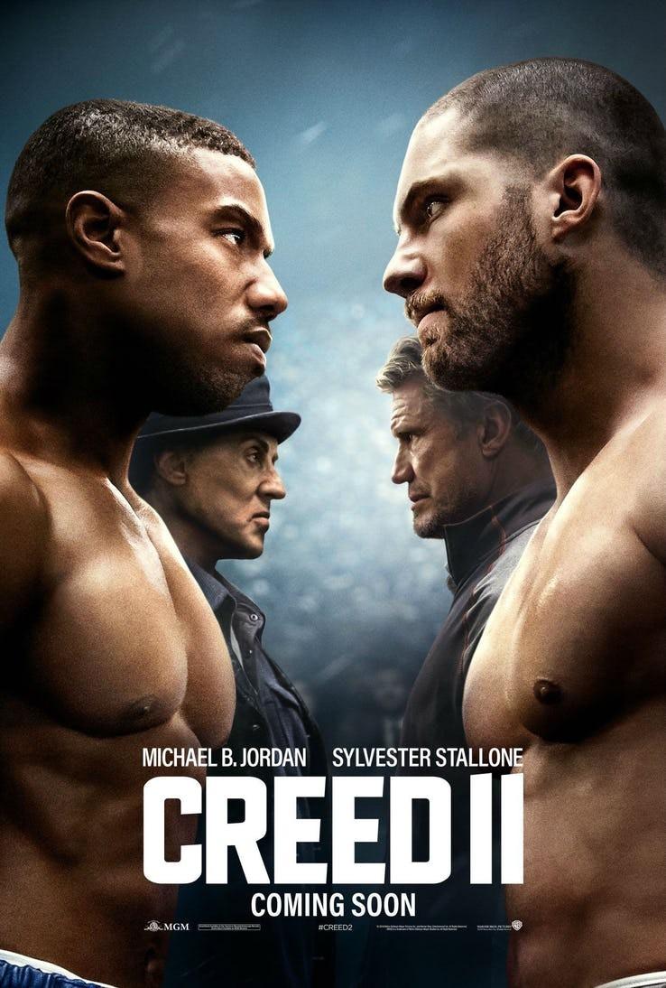 O cartaz de Creed 2, mostrando o novo embate entre Rocky Balboa e Ivan Drago (Foto: Divulgação)