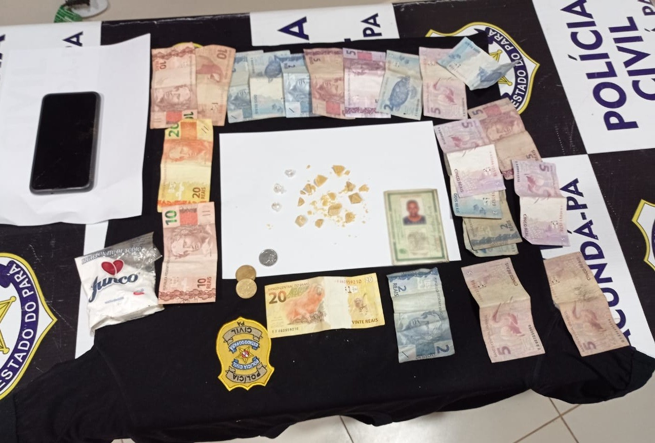 Dupla é presa suspeita de tráfico de drogas em Jacundá, sudeste do PA