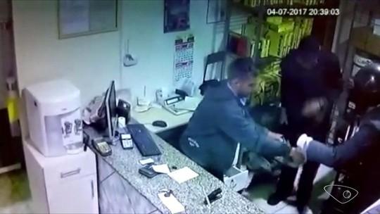 Vídeo mostra assalto em posto de combustíveis, em Santa Maria de Jetibá, ES