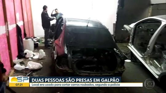 Polícia prende dupla em desmanche com passagens secretas em Guarulhos