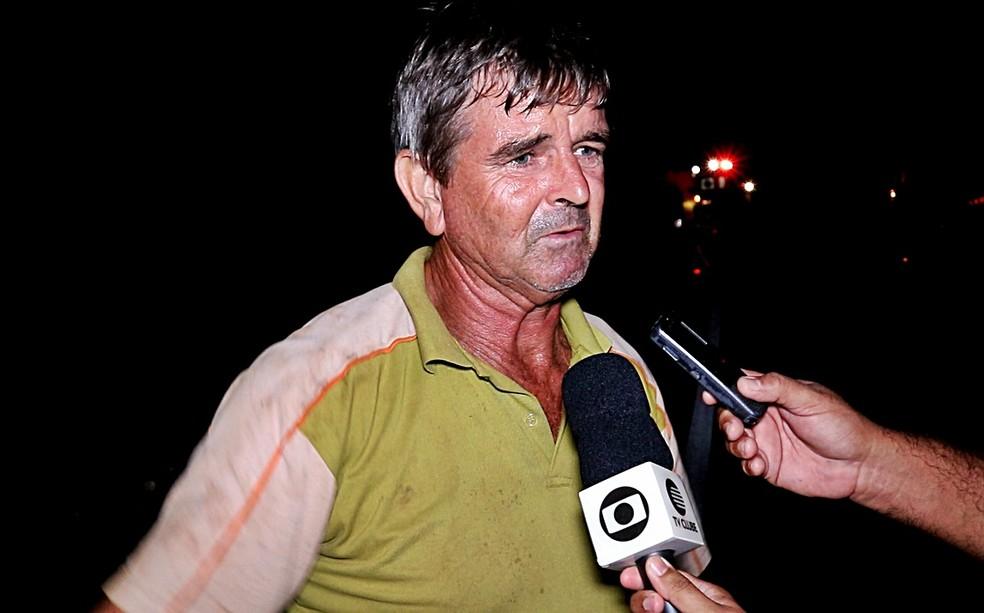 Condutor da caminhonete alegou não ter visto motociclista (Foto: Kairo Amaral/TV Clube)