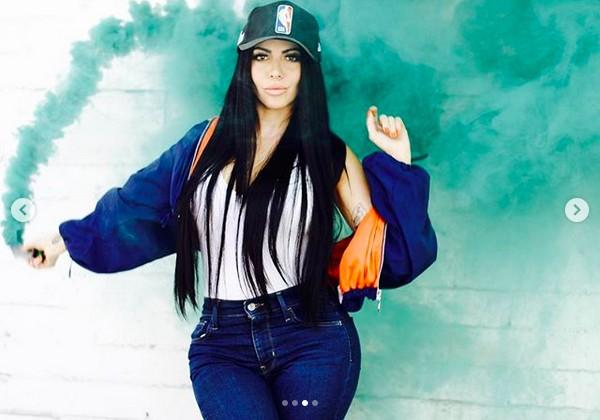 A modelo Jimena Sanchez, conhecida nas redes sociais como a Kim Kardashian mexicana (Foto: Instagram)
