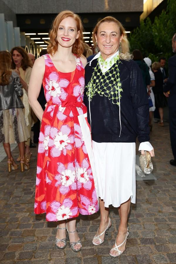 Jessica Chastain e Miuccia Prada (Foto: Getty Images)