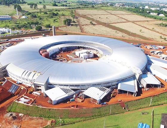 O acelerador de partículas Sirius, em Campinas (Foto: Divulgação/Centro Nacional de Pesquisa em Energia e Materiais)