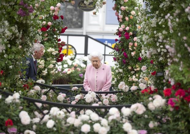 A Rainha visita o Chelsea Flower Show no dia 22.05 (Foto: Getty Images)