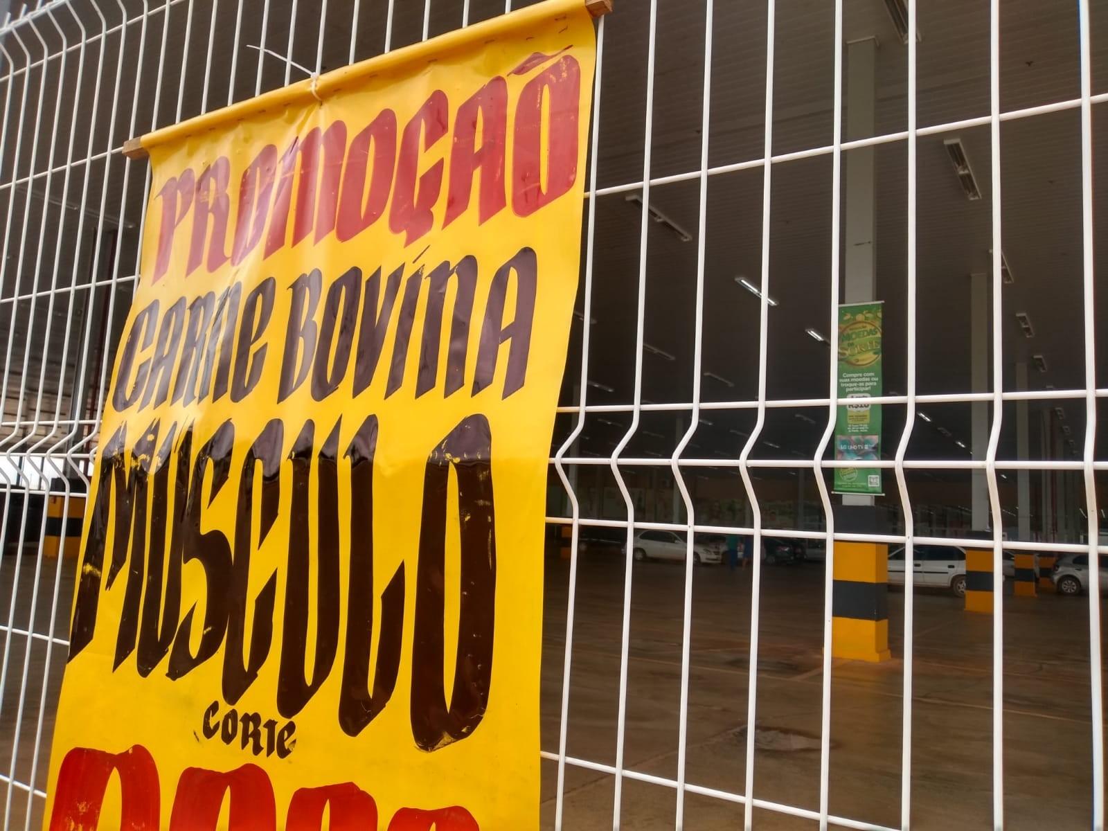 Homem é preso furtando pacote de carne em mercado de Porto Velho