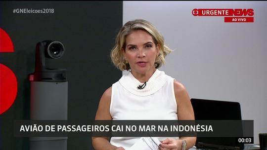 Avião de passageiros cai no mar logo após decolar na Indonésia