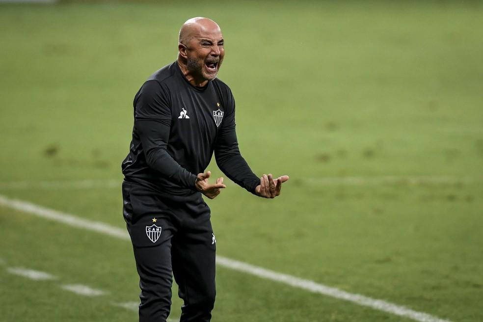 Jorge Sampaoli, técnico do Atlético-MG — Foto: Agência i7/Mineirão