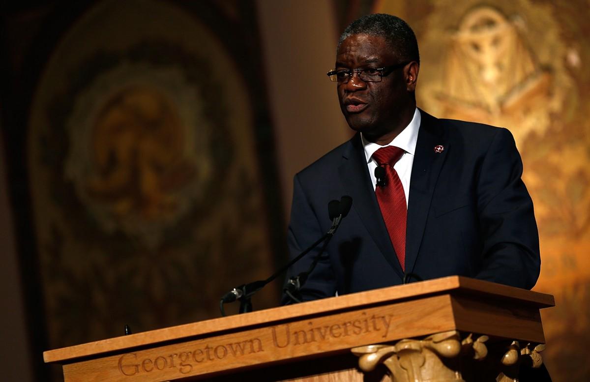 Dr. Denis Mukwege, premiado este ano com o Nobel da Paz (Foto: Getty Images)