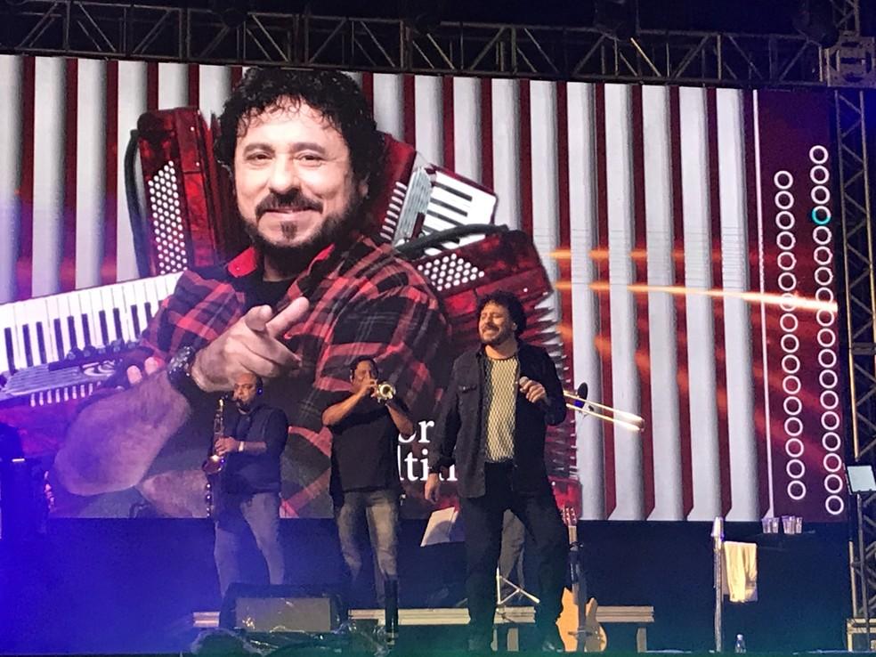 Jorge de Altinho no São João 2018 de Caruaru (Foto: Joalline Nascimento/G1)