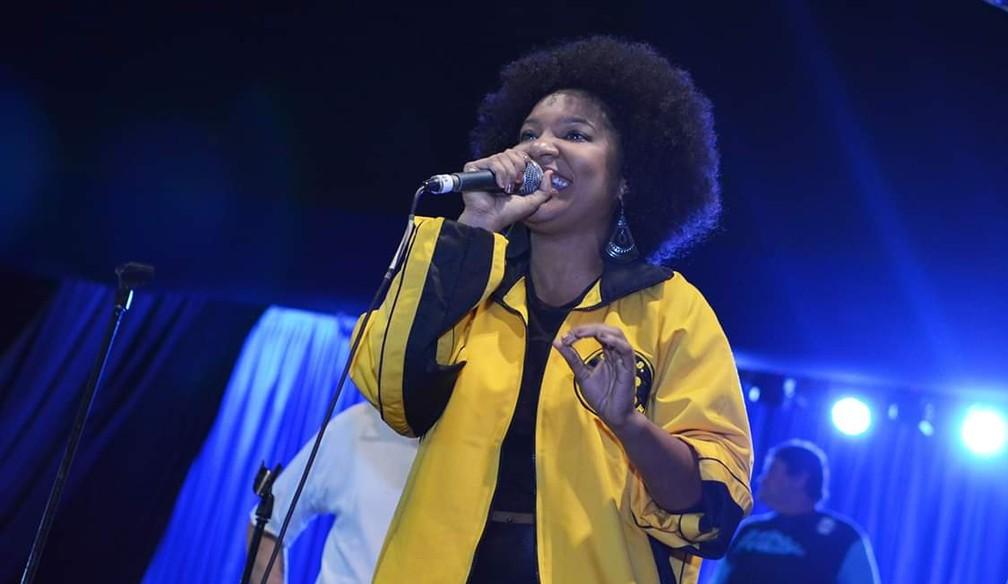 Larissa Luz canta samba da São Clemente em 2019 — Foto: Rafael Arantes/ São Clemente