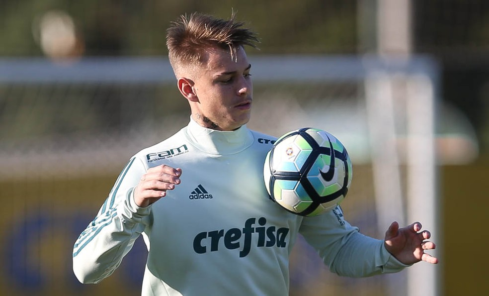 Róger Guedes será emprestado ao Atlético-MG (Foto: Cesar Greco/Agência Palmeiras/Divulgação)