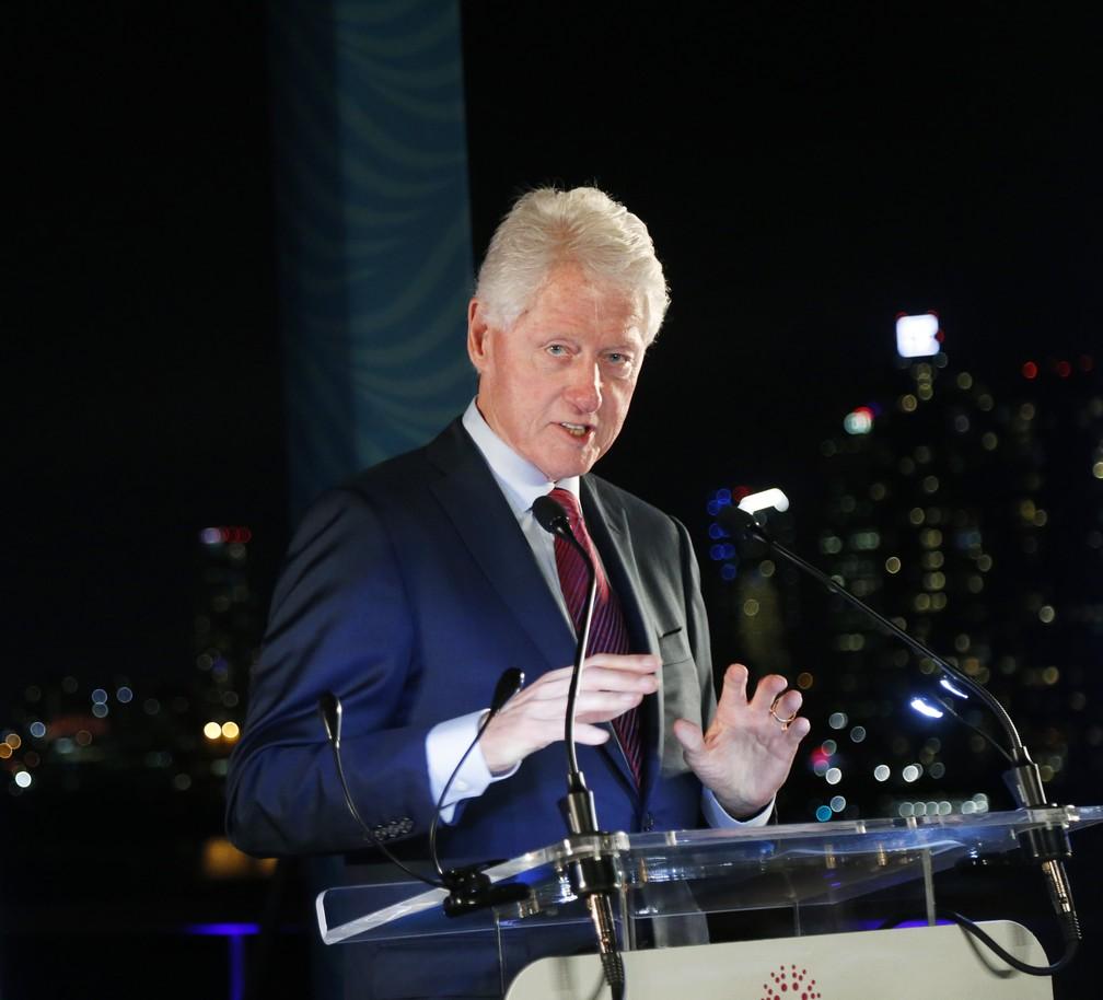 Bill Clinton também tinhas características de psicopatia. — Foto: Jason DeCrow/Hult Prize Foundation via AP Images