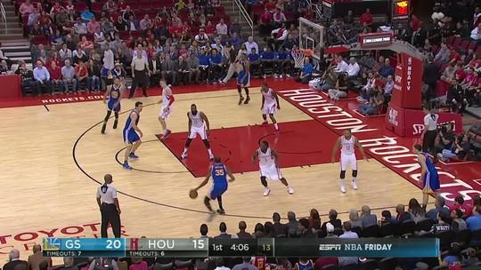 Com show de Kevin Durant, Warriors arrasam os Rockets de James Harden