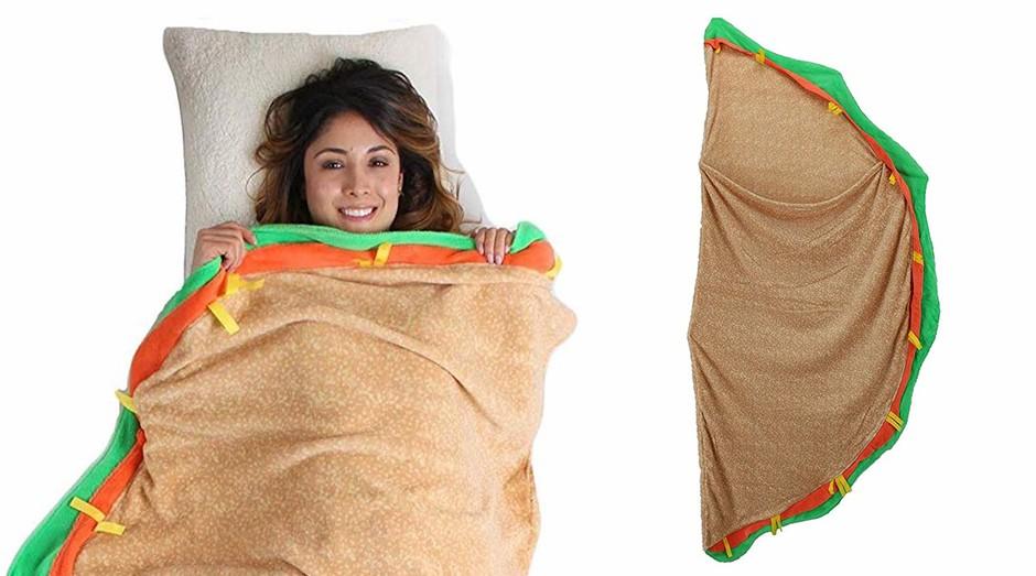 O cobertor de taco, para aqueles que amam o prato mexicano. (Foto: Divulgação)