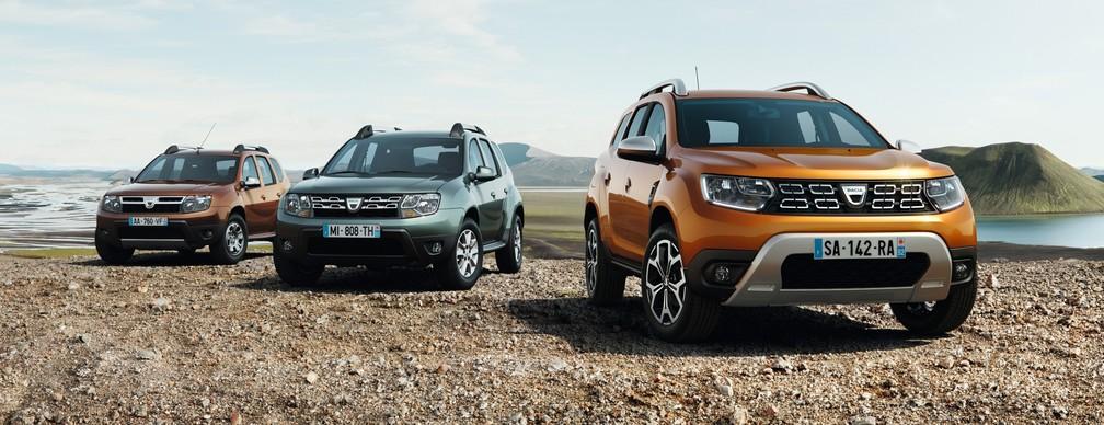 As mudanças do Dacia Duster ao longo da vida (Foto: Divulgação)