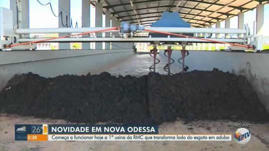 Nova Odessa inaugura 1º usina da RMC que transforma esgoto em adubo nesta quarta-feira
