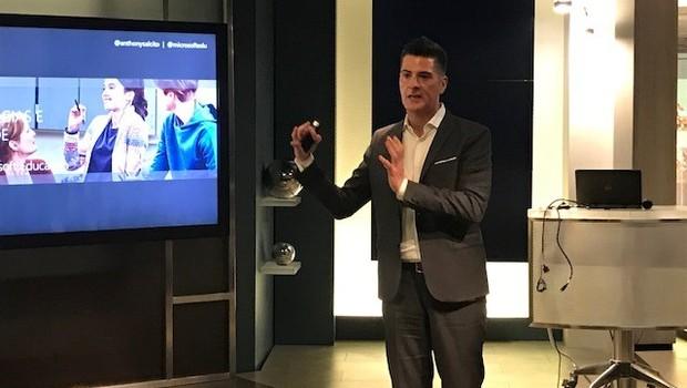 Anthony Salcito, vice-presidente mundial de educação da Microsoft em evento em São Paulo (SP).  (Foto: Divulgação)