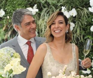 O jornalista William Bonner e a fisioterapeuta Natasha Dantas se casaram neste sábado   Arquivo pessoal