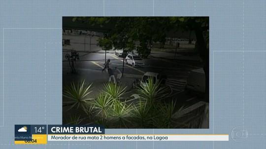 Morador de rua mata dois homens a facadas na Lagoa