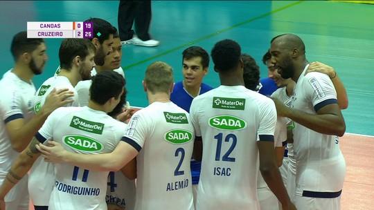 Cruzeiro bate Canoas, vai à semifinal e segue na briga pela sexta taça de Superliga