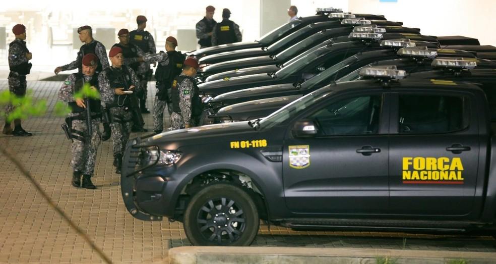 Força nacional reforça segurança no Ceará após onda de ataques criminosos — Foto: Natinho Rodrigues/SVM