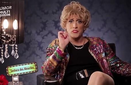 Outro papel muito conhecido do ator é a Senhora dos Absurdos, lançada em 2011 no '220 volts', do Multishow Reprodução