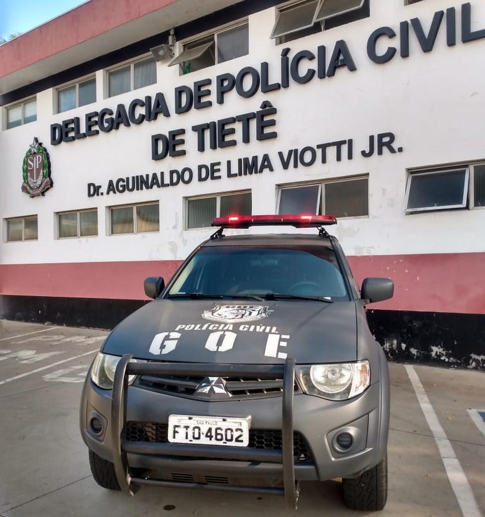 Caso foi apresentado na Polícia Civil de Tietê (SP) — Foto: Polícia Civil/Divulgação