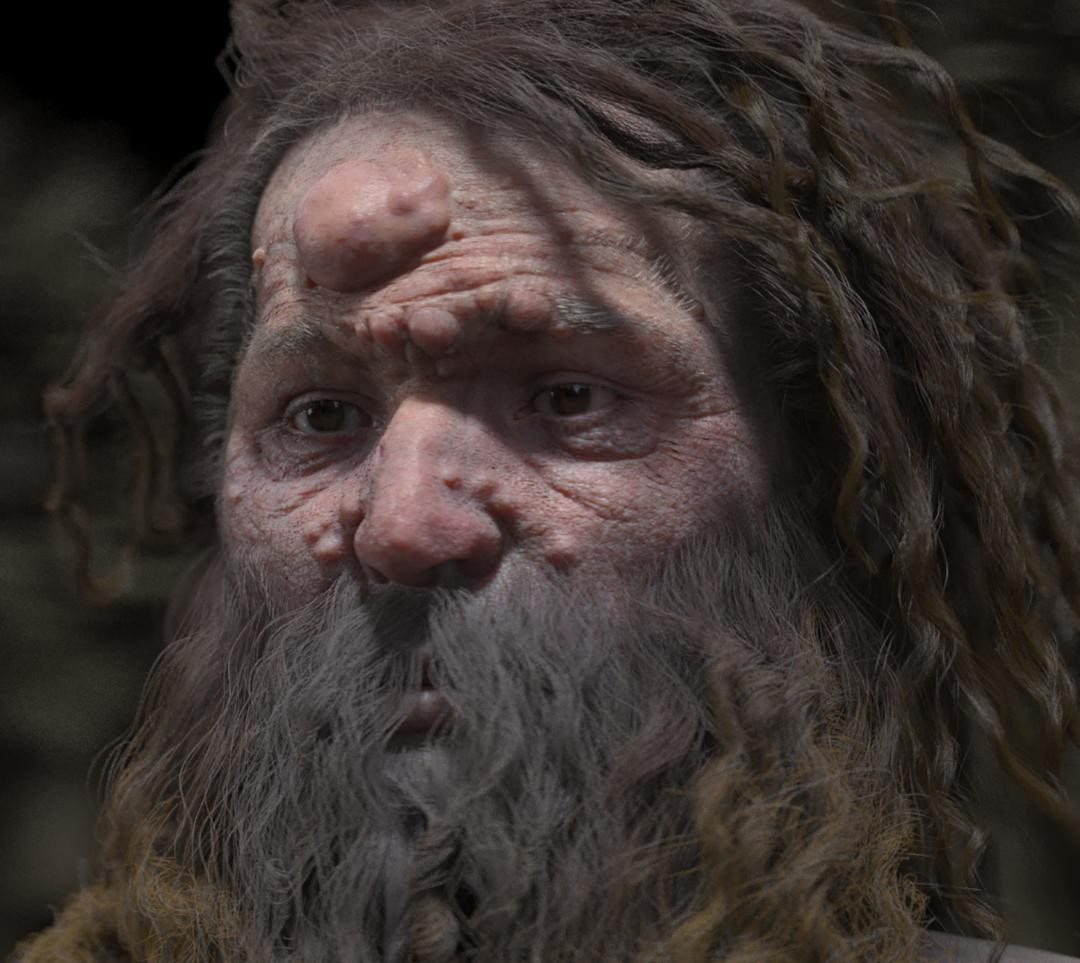 Rosto de Homem de Cro-Magnon (Foto: AFP PHOTO/Froesch/Charlier/VisualForensic/UVSQ)
