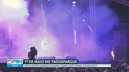 Festa do trabalhador, no Taguaparque, reúne os cantores Odair José e Vanessa da Mata