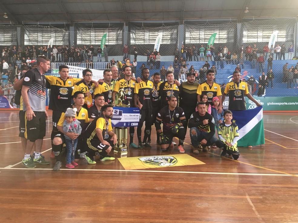 Equipe do Vô Maria, de Campo Grande, ficou com o vice-campeonato da Copa Morena — Foto: Débora Brum/TV Morena