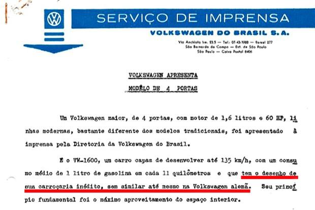 Release VW 1600 (Foto:  )