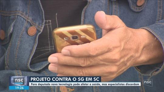 Projeto de lei para proibir testes com tecnologia 5G em SC tramita na Alesc