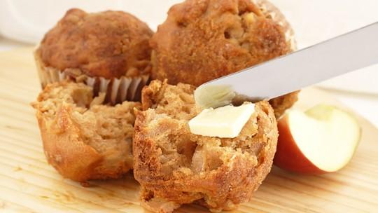 Muffin de linhaça com cogumelos e tofu