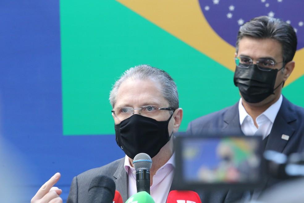 O secretário estadual da Saúde de , Jean Gorinchteyn, nesta segunda-feira (19).  — Foto: Divulgação/Secom/GESP