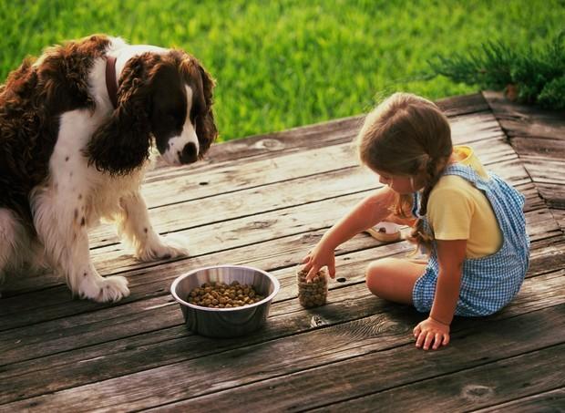 criança brinca com cachorro (Foto: ThinkStock)