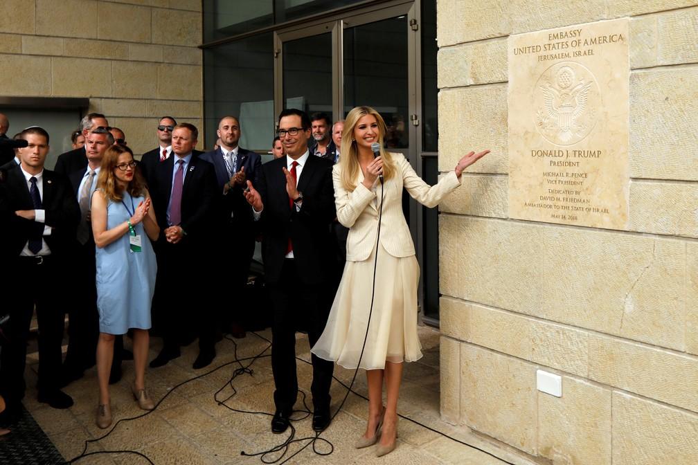 Ivanka Trump inaugura embaixada dos EUA em Jerusalém nesta segunda-feira (14) (Foto: Ronen Zvulun/Reuters)