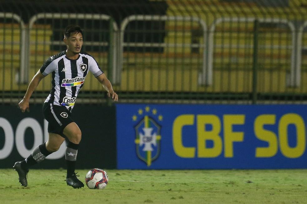 Luis Oyama fez seu pior jogo com a camisa alvinegra — Foto: Vitor Silva/Botafogo