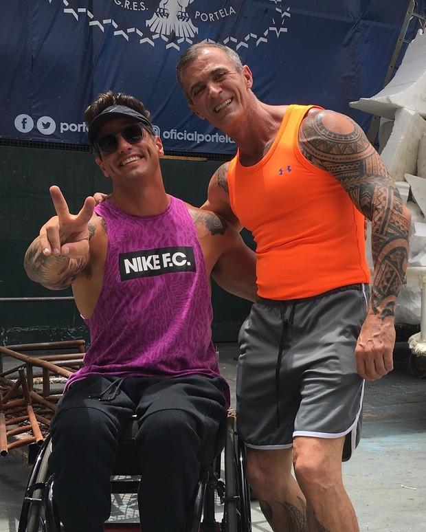 Fernando Fernandes e Paulo Barros (Foto: Reprodução/Instagram)